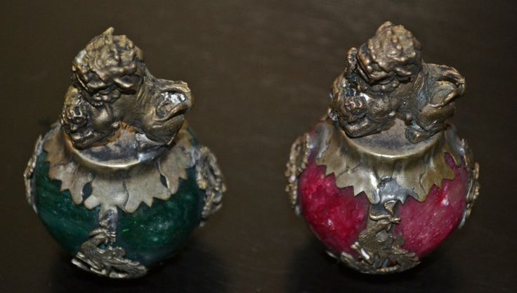 Ornate, Asian Shi Shi Lion Weights, Asian Collectibles