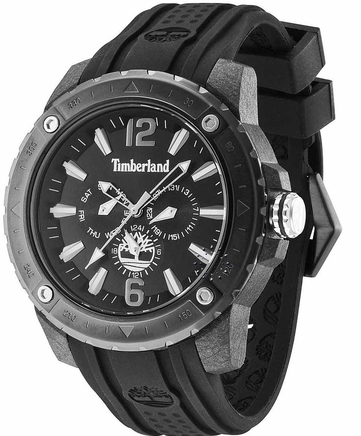 TIMBERLAND Granville Black Rubber Strap Η τιμή μας: 143€ http://www.oroloi.gr/product_info.php?products_id=35606