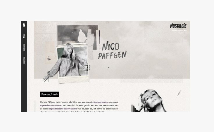 A Tribute to one of the most influential and inspiring women of the 20th century in music: Nico Päffgen. Mostly known for her work with The Velvet Underground