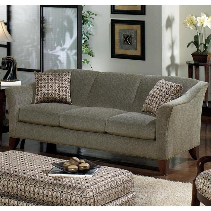 Leather Sofas Contemporary Sofa with Flared Arms Nebraska Furniture Mart