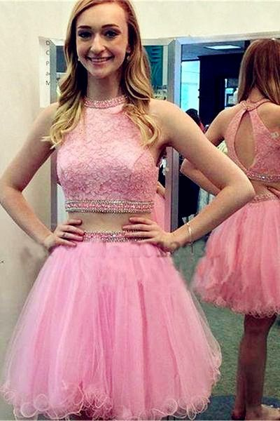 Two Pieces Classy Homecoming Dress,Sexy Party Dress,Charming Homecoming Dress,Homecoming Dress