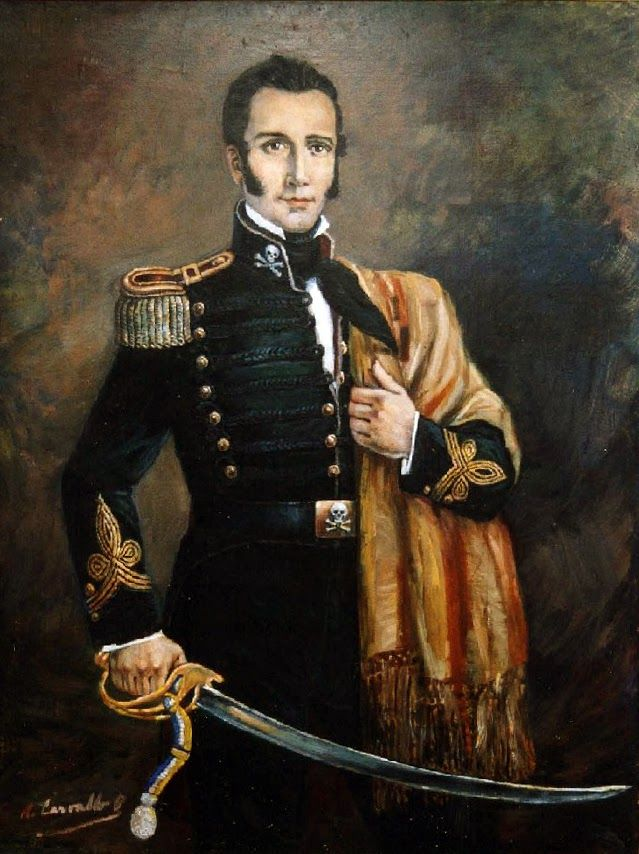 Manuel Rodriguez, a much loved Chilean hero of the Wars for Independence.