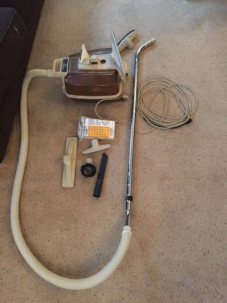Vintage Montgomery Ward Canister Vacuum With Attachments And Bags #Eureka