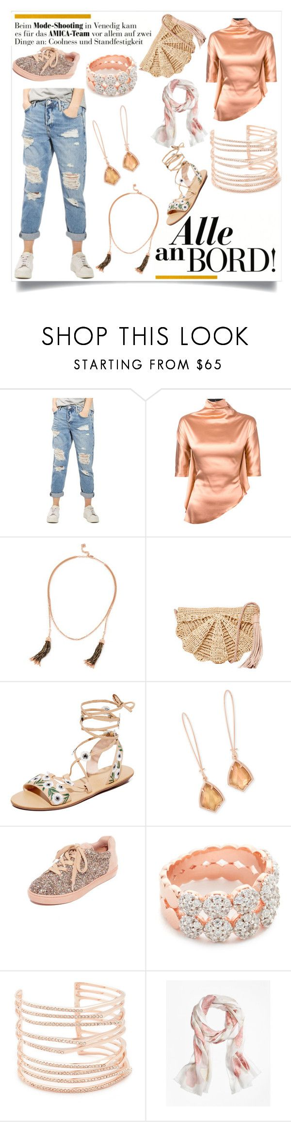 """Illumination entertainment"" by emmamegan-5678 ❤ liked on Polyvore featuring Topshop, Paula Knorr, Kendra Scott, Mar y Sol, Loeffler Randall, The Fix, Bronzallure, Alexis Bittar, Brooks Brothers and modern"