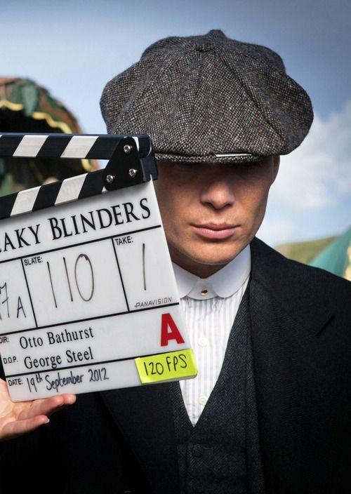 Cillian Murphy on set of Peaky Blinders
