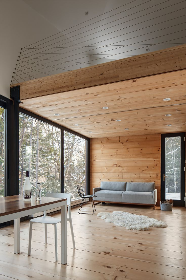 Prefab cabin is all wood, glass, and mountain views - Curbedclockmenumore-arrownoyes : It's ready to hygge