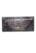 Vivienne Westwood Womens Purse Black N/A Frilly Snake
