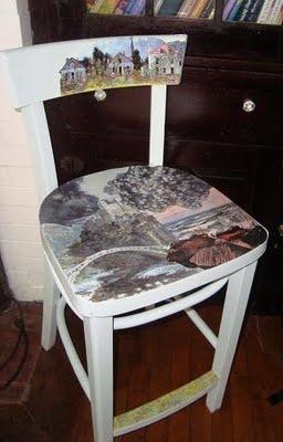 love this decoupaged chair