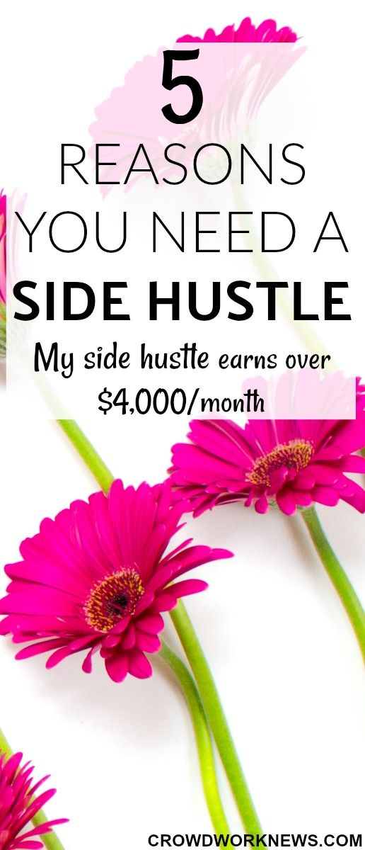 Side hustle or side jobs are a great way to make extra money. My side hustle earns over $4,000/month. If you don't have a side hustle, you should start one now!! Check out the reasons you need a side hustle and start making money.