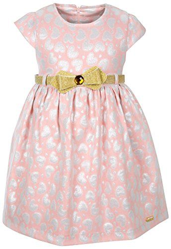17e8e4e8278c Lilax Little Girls All Over Heart Print Party Dress 4T Pink >>> Want to  know more, click on the image.