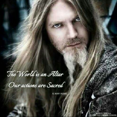 The World is an Altar, Our Actions are Sacred.