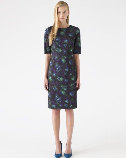 Blue Depths Print Dress