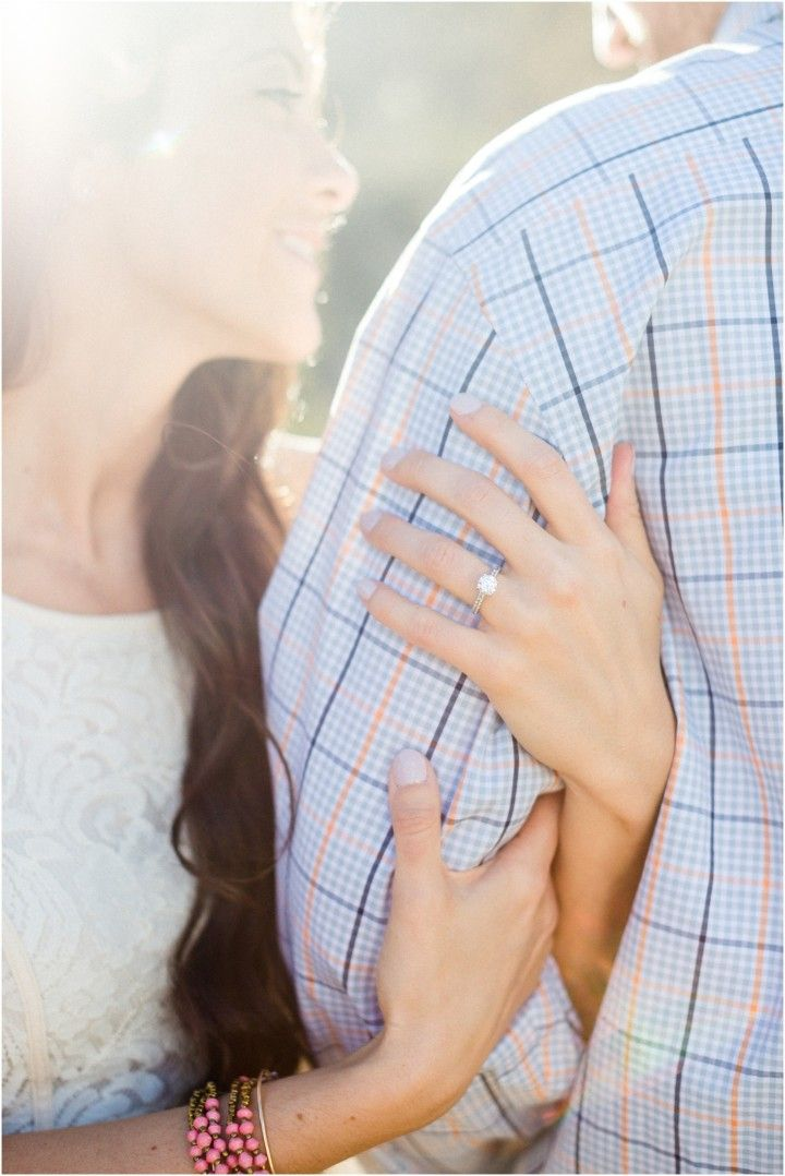 Canyon Lake, Arizona, engagement photos - love the sunlight and her engagement ring. Click to view more!