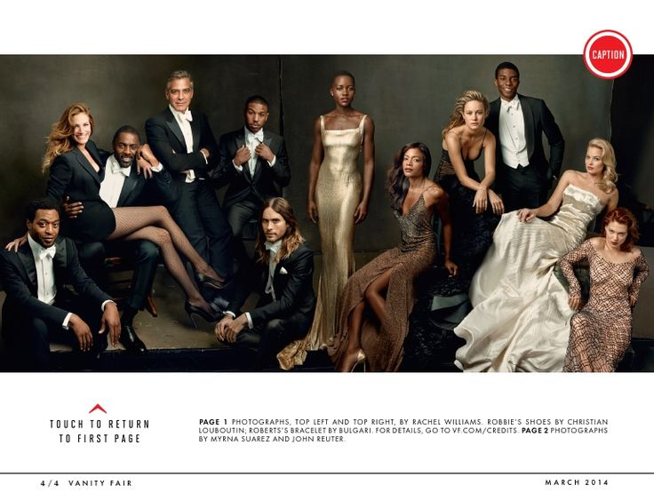 Vanity Fair, March 2014: Hollywood Issue #1.