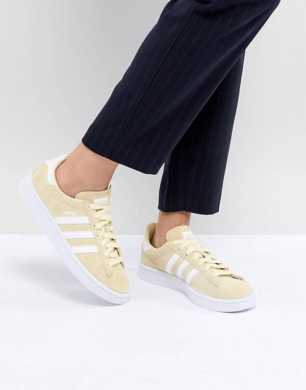 the best attitude f3a8e f074e adidas Originals Campus Sneakers In Lemon Yellow