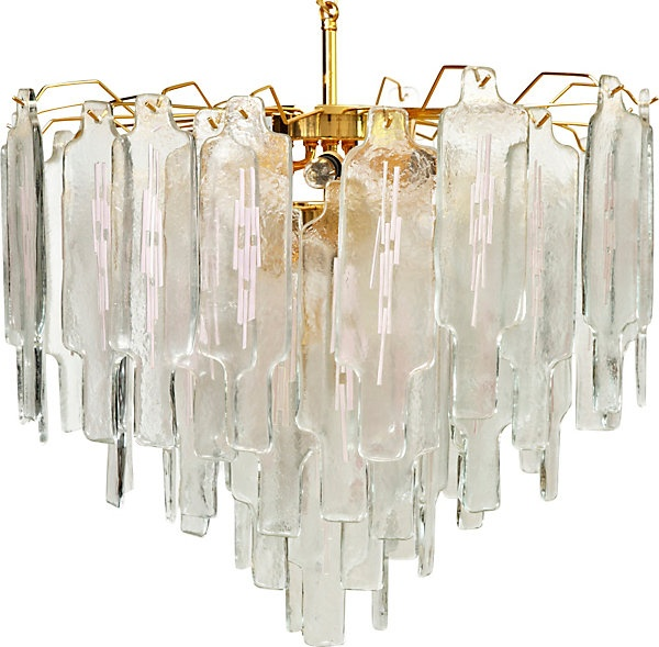 One Kings Lane - Olivia Song - Barbini Glass Brick Chandelier