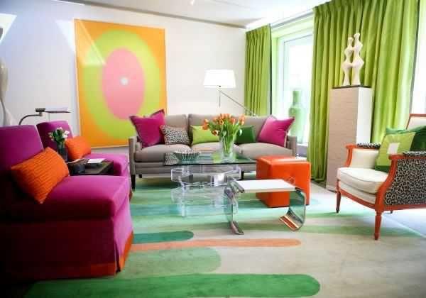 Vibrant colors: