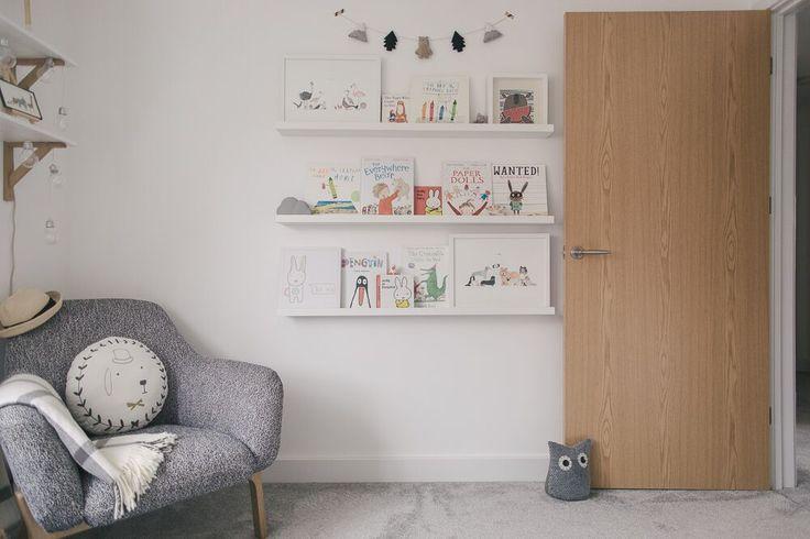 Shelfie | Gender Neutral Nursery | Unisex Nursery | Boori Nursery Furniture | White Grey & Wood Nursery