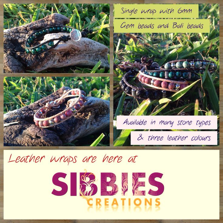 Single leather wrap. Sibbies Creations on Facebook https://www.facebook.com/pages/Sibbies-Creations/145337405634171?ref=hl Free shipping Australia wide. Secure Paypal options available.