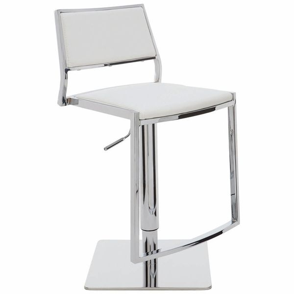 Aaron Adjustable Stool (White)