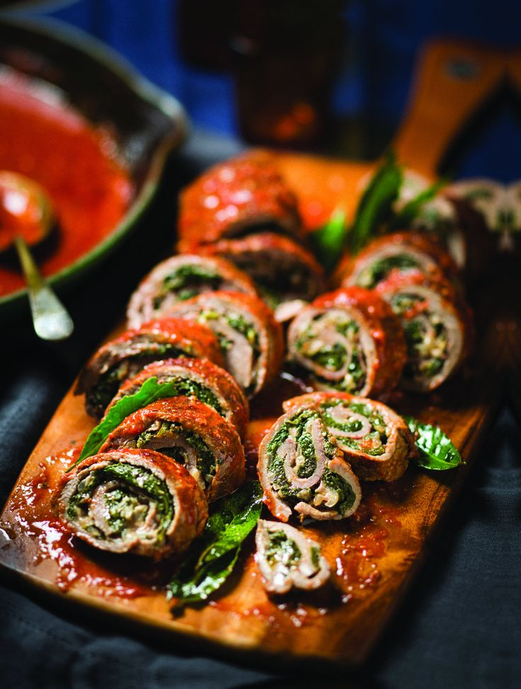 Beef Braciole With Spinach