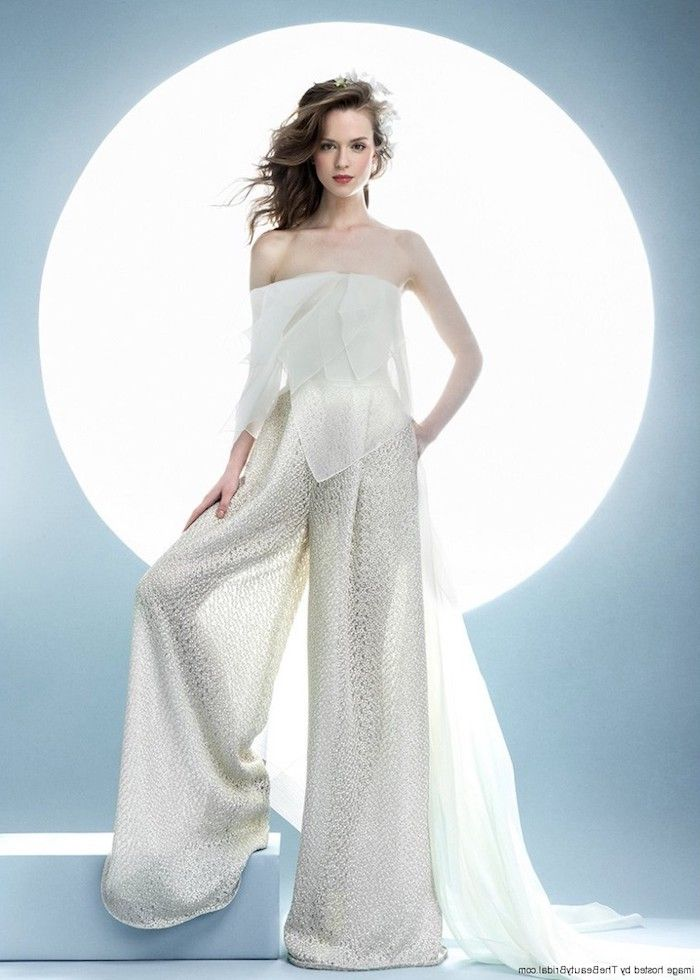 jumpsuit damen mode inspiration ideen zum gestalten selbermachen oder beim schneider einen hochzeitsoutfit nähen lassen eleganter anzug einteiler damen weiß