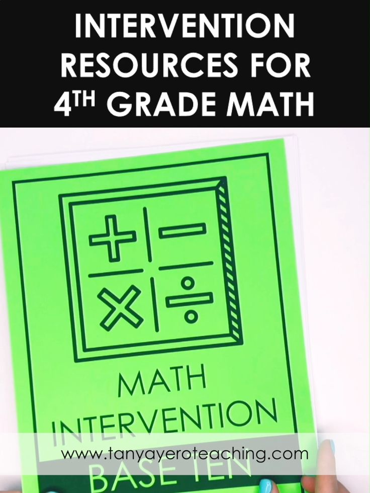 This 4th grade math intervention binder has everything you