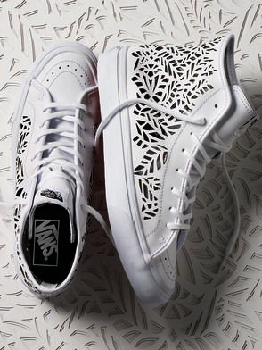 Delicate Whites: The Cut-Out Sk8-Hi Decon.
