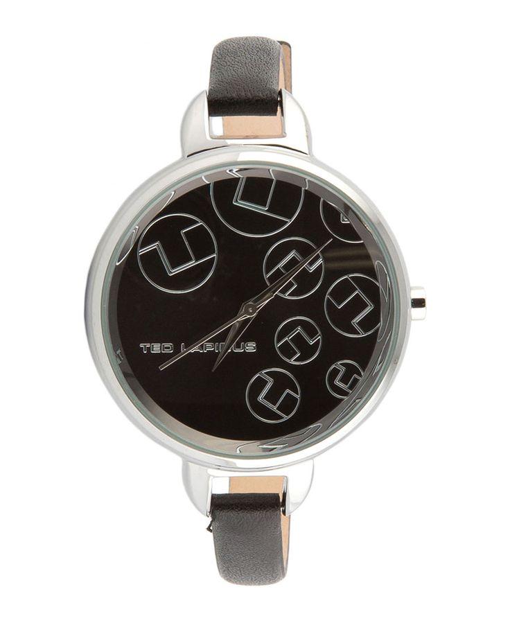 Orologio donna ted lapidus - analogico - tipo di vetro: minerale - quadrante: nero - chiusura con fibbia - materiale - Orologio donna a0643 Nero
