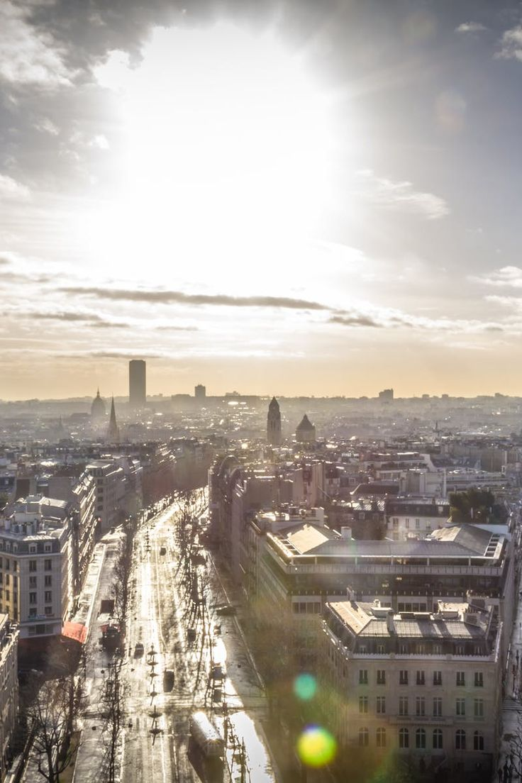 Free stock photo of city, bird's eye view, eiffel tower, paris