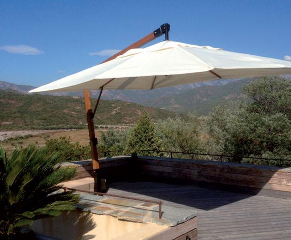 Parasol excentré  Atrium Concept  #basileek #parasol #jardin