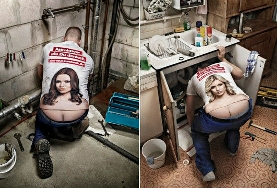 """Alleviating the """"plumber's crack"""" problem. Leave it to the Germans to figure this one out!"""