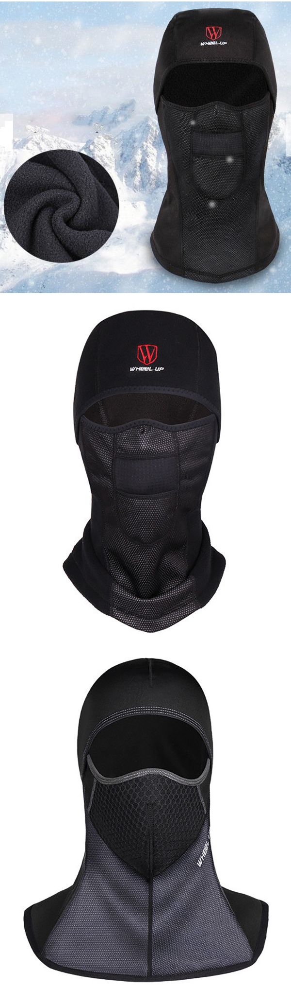 Winter Outfit: Warm Fleece Full Hood  Windproof Hat: Dustproof/Waterproof #men #winter