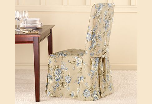 sure fit slipcovers lexington floral dining chair covers
