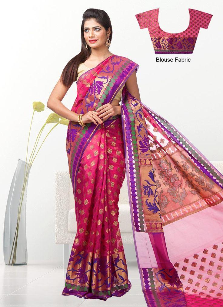 Vivid Kora Silk Saree