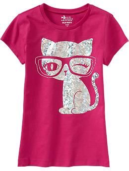 Girls Foil-Graphic Tees | Old Navy
