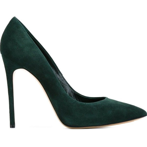 Casadei Pointed Toe Pumps found on Polyvore featuring shoes, pumps, heels, обувь, green, green shoes, green pumps, pointed-toe pumps, pointy toe shoes and casadei shoes