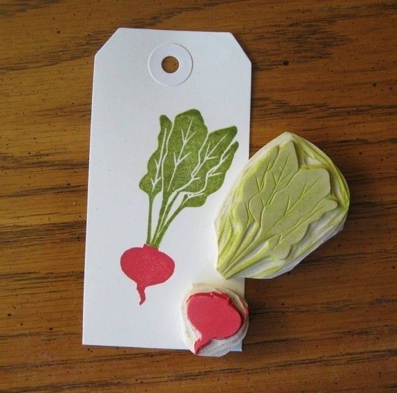 Hand carved beet rubber stamp stamps and mafia
