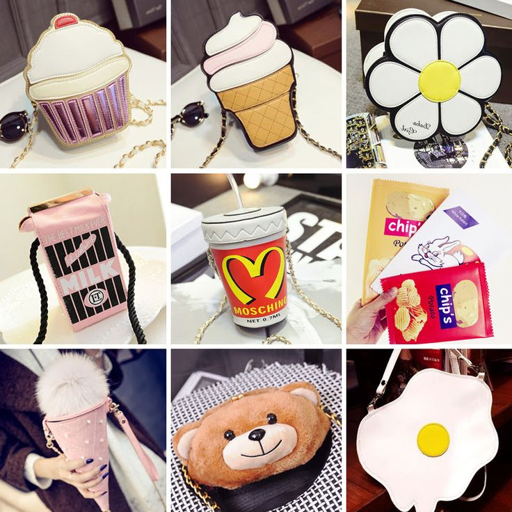 Сумки и клатчи в виде продуктов Сумка-мороженое в стиле Москино