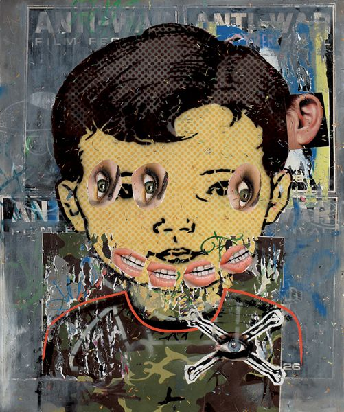Asha Zero, Tork Textrik. Acrylic on Board. BYT- December 2009