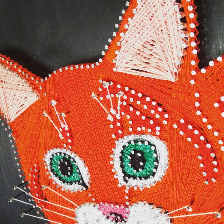 Вот такой замечательный добрый и ласковый кот Мурзик у меня получился! Он ищет  свой дом и любящих хозяев!) Картина выполнена в технике String art. Размер картины 30*50, фанера, акриловая краска, гвозди и нитки ирис. стоимость 3000 р. Для связи пишите в  Whatsapp,Viber:+79003866325, https://www.instagram.com/nakube.stringart/ или https://vk.com/nakube.stringart
