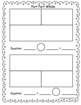 Enjoy this free part part whole mat to practice addition, subtraction, multiplication, or division!  I use this mat to model during my whole group and small group lessons while my students are practicing the skills with their own personal mat. You can laminate these mats so they can be used with either manipulatives or number tiles.