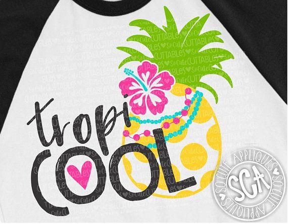 Tropicool Svg Design Pineapple Svg Aloha Pineapple Svg