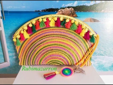 Diy. Decorar bolso de mano de playa - YouTube
