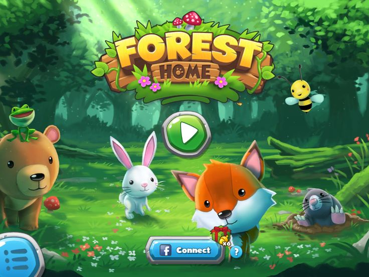 Forest Home | Splash Screen | UI, HUD, User Interface, Game Art, GUI, iOS, Apps, Games, Grahic Desgin, Puzzle Game, Maze Games, Brain Games | www.girlvsgui.com