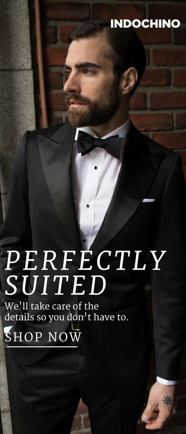 Why rent when you can buy? For a celebration this epic, generic suit rentals for the groom and his groomsmen won't cut it. Indochino builds expertly tailored, customized suits to perfectly match your wedding's theme and budget.