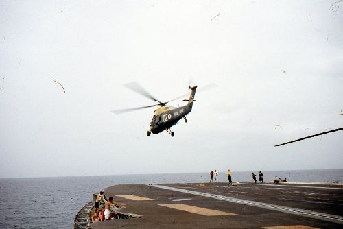 Wessex HAS.1 taking off from HMS Centaur during 4th Commission (Photo: John Holton)