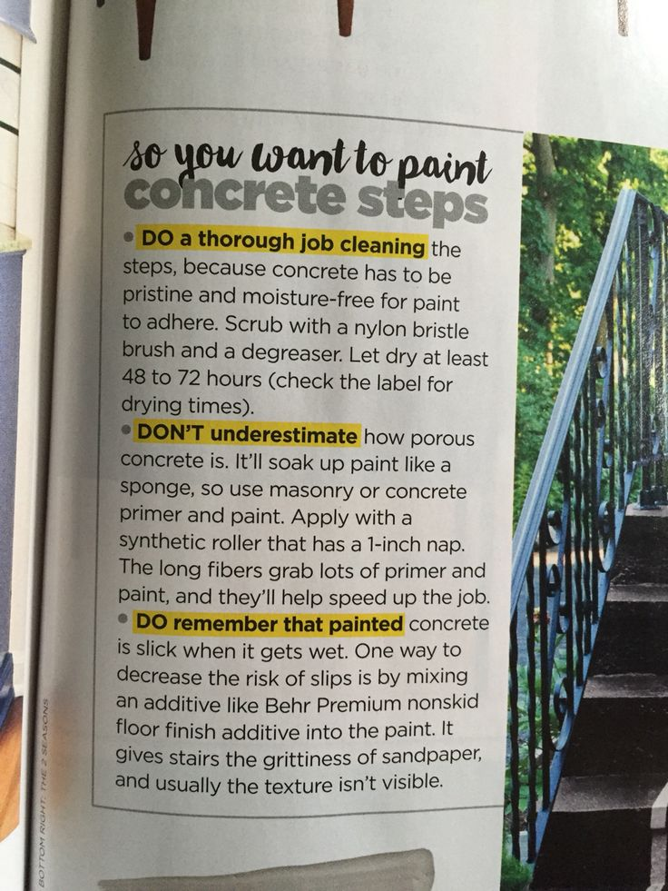 Painting concrete steps                                                                                                                                                     More