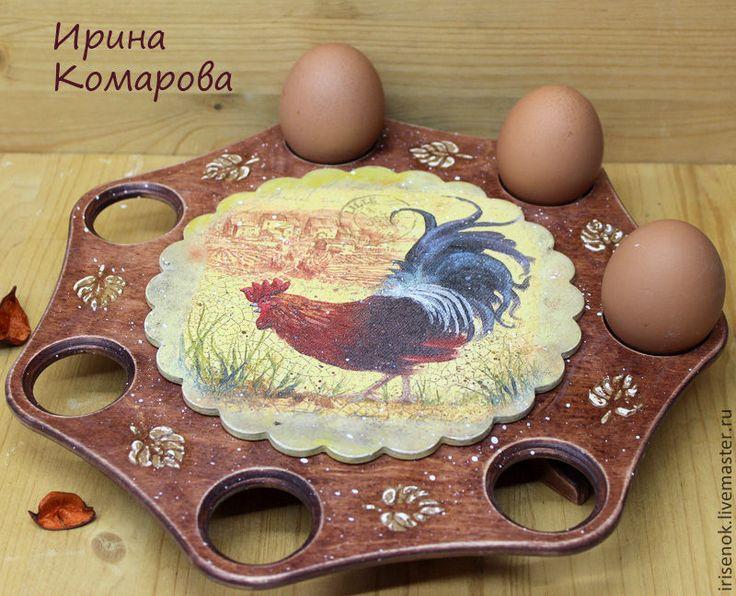 Куличница-Подставка для яиц и кулича - коричневый,куличница,подставка для яиц