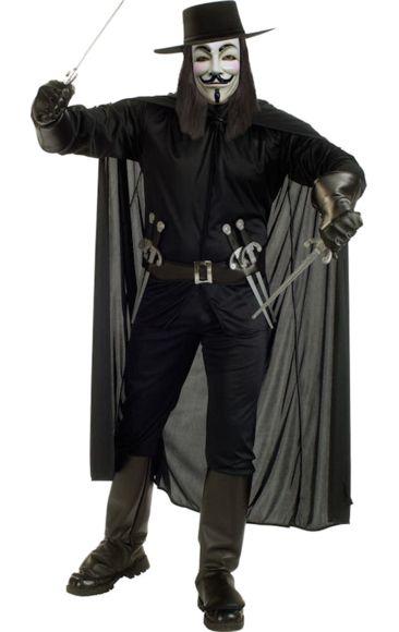 Adult V For Vendetta Costume | Jokers Masquerade